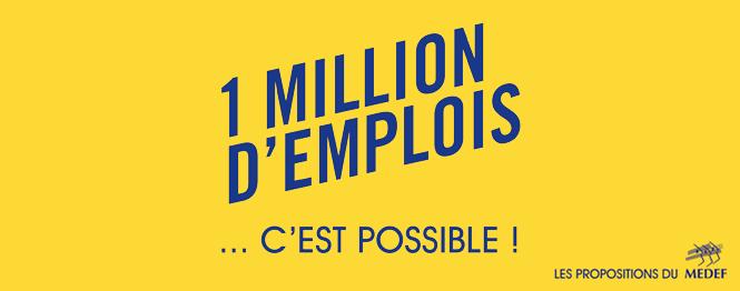 MEDEF / 1milliond'emplois
